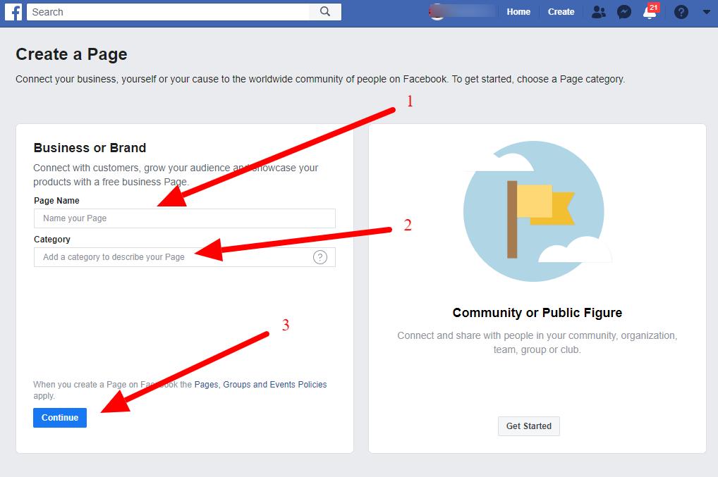 طريقة عمل صفحة فيس بوك