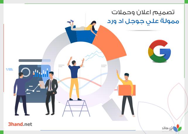 تصميم اعلان وحملات ممولة علي جوجل اد ورد
